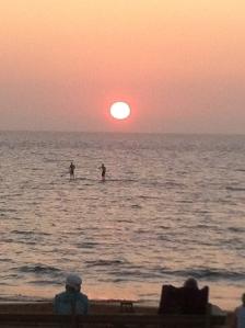 Paddlers enjoying a sunset paddle!