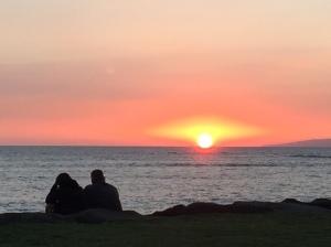 Mondays sunset